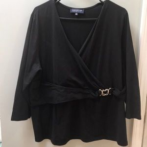 Jones New York Blouse with silver accent